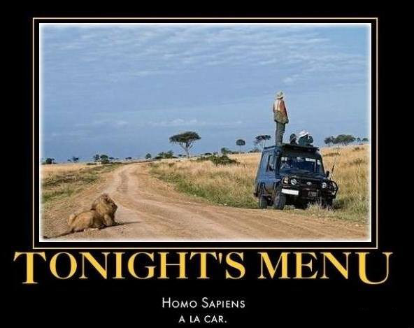 View joke - Tonight's menu in Africa
