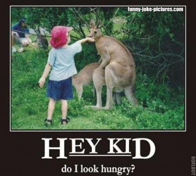 View joke - Hey kid, do I look hungry?