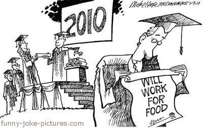View joke - Graduation. Will work for food