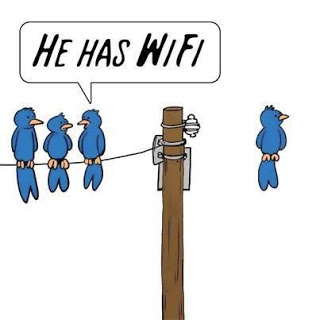 View joke - He has wifi