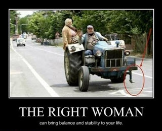 View joke - The right woman can bring balance and stability to your life