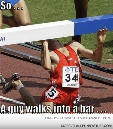View joke - So ... A guy walks into a bar ...
