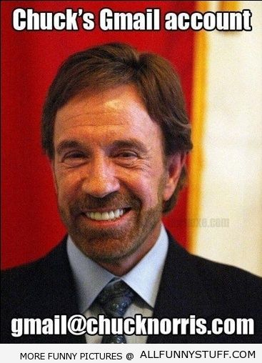View joke - Chuck's Gmail account is gmail@chucknorris.com