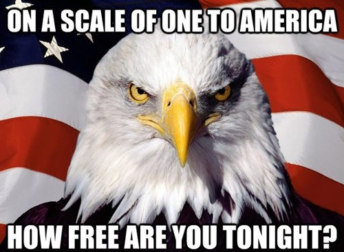 View joke - On a scale of one to America, how free are you tonight?