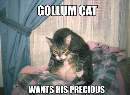 View joke - Gollum cat wants his precious